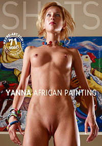 Yanna African Painting - Yanna loves to dance – naked!