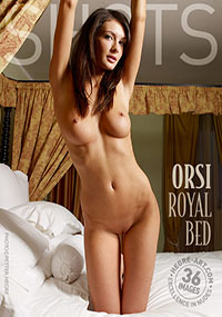 Orsi Royal Bed - Curvy Orsi is naked in the bedroom