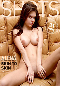 Alena - Leather Dreams - Stretched out like a kitten on a warm summer day, Alena just begs to be snuggled with